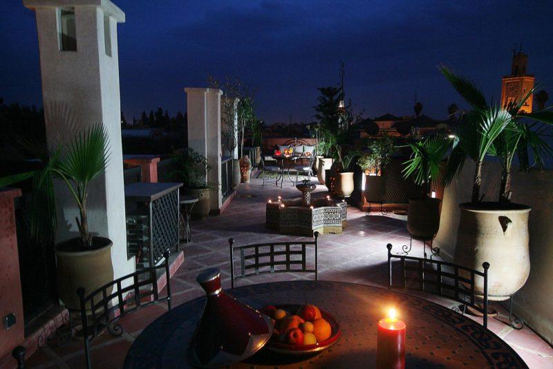 terrase riad alili marrakech